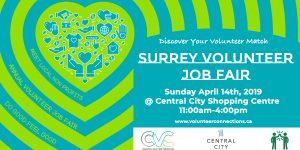 2019 Surrey Volunteer Fair Table Registration @ Central City Shopping Centre | Surrey | British Columbia | Canada