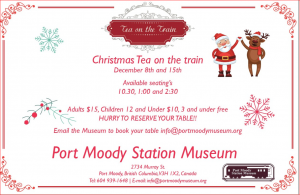 Christmas Tea on the Train in Port Moody @ Port Moody Train Museum